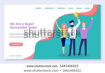 Bem sucedido equipe educação on-line vetor Foto stock © robuart