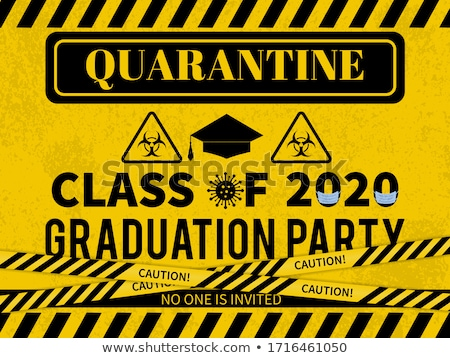 A Quarantine Warning Biohazard Sign Illustration Stock photo © enterlinedesign