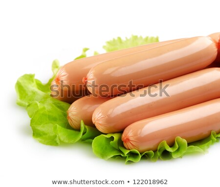 Cold meat products and hot dog sausages Stock photo © grafvision