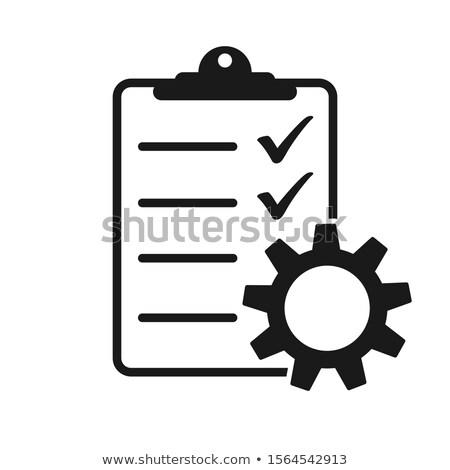 Feladat vezetőség lista ikon vágólap viselet Stock fotó © ussr