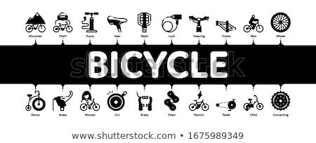 Rower rowerów szczegóły minimalny banner Zdjęcia stock © pikepicture