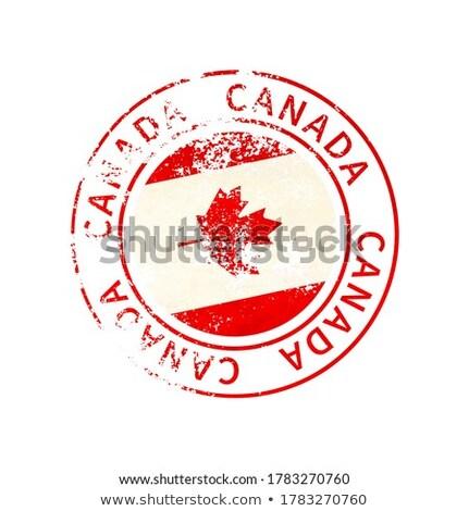 Kanada felirat klasszikus grunge lenyomat zászló Stock fotó © evgeny89