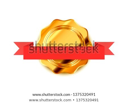 Arany retro címke luxus kitűző bürokrácia Stock fotó © evgeny89