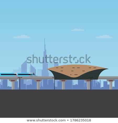 Metro estación Dubai futurista verano día Foto stock © bloodua