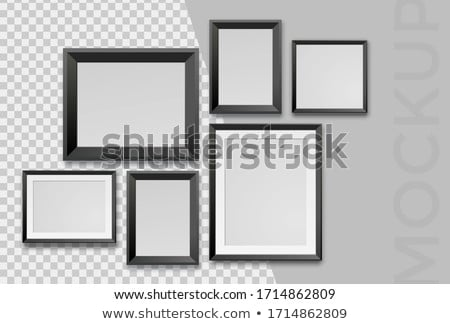 Empty art frames on gallery wall, decor and design Stock photo © Anneleven