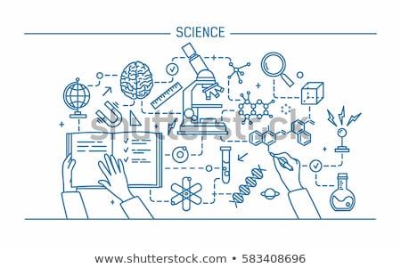 Tudomány kísérlet szó szalag terv biokémia Stock fotó © barsrsind