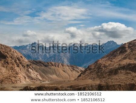 Karakorum Range and road in valley, Ladakh, India Stock photo © dmitry_rukhlenko