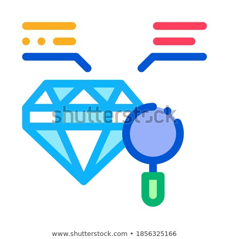 Inspectie studie diamant steen icon vector Stockfoto © pikepicture
