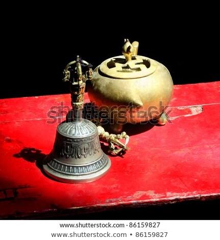 Budist ayin nesneler çan natürmort Stok fotoğraf © dmitry_rukhlenko