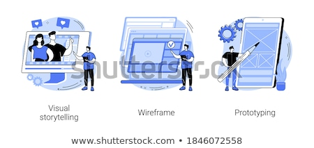Web Page visualization vector concept metaphor Stock photo © RAStudio