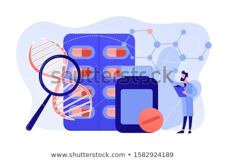 Farmaceutyczny produktów wektora metafora oddechowy choroba Zdjęcia stock © RAStudio