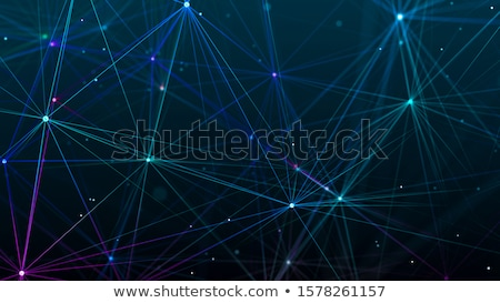 abstract glowing fractal lines mesh digital background Stock photo © SArts