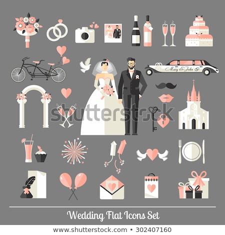 Car Limousine For Wedding Ceremony Vector Icon Stock photo © pikepicture