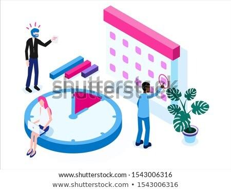 Cronógrafo humanos icono vector signo Foto stock © pikepicture