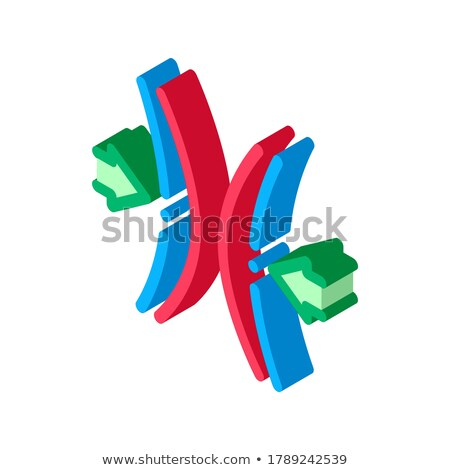 Block Vocal Cords isometric icon vector illustration Stock photo © pikepicture