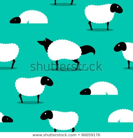 wolf in sheeps clothing seamless background idiom stock photo © adrian_n