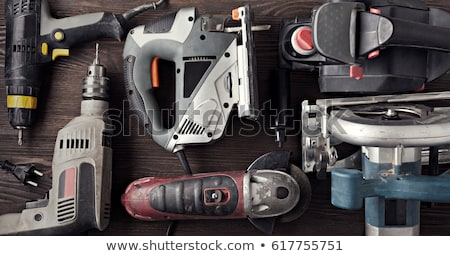 Güç araç delme aşağı vida ahşap Stok fotoğraf © Bumerizz
