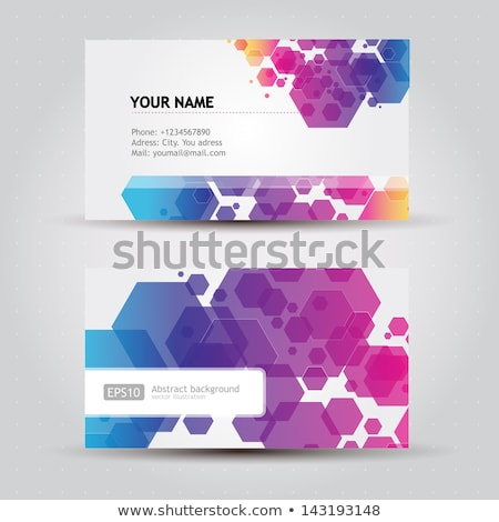 Stock photo: abstract digital corporate id