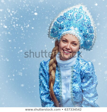 Portrait of a attractive Snow Maiden stock photo © acidgrey