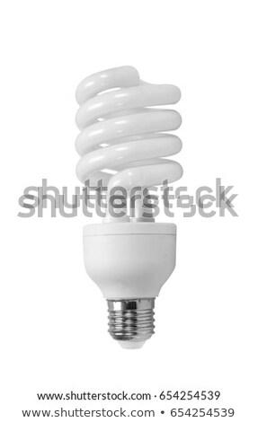 Stock fotó: Energia · takarékosság · villanykörte · izolált · fehér · technológia