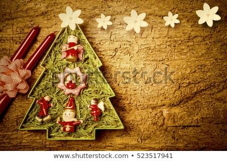 Christmas vrolijk hippie boom wenskaart Stockfoto © marimorena