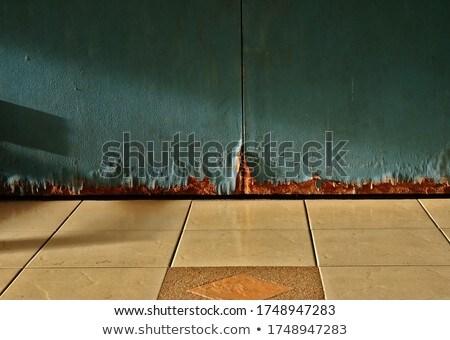 öreg · fából · készült · ajtó · fém · fogantyú · fa - stock fotó © nejron