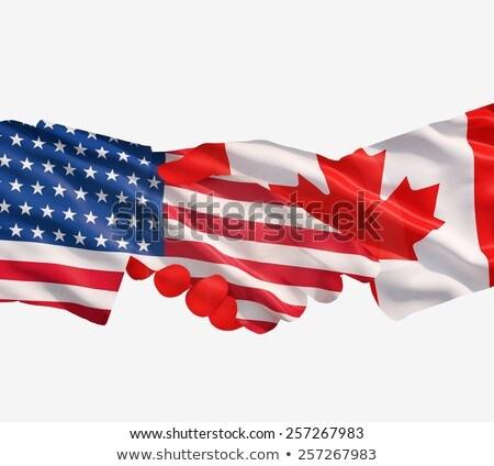 Representatives of the USA and Canada shake hands Stock photo © Zerbor