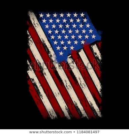 American Flag idea illustration Stock photo © kiddaikiddee