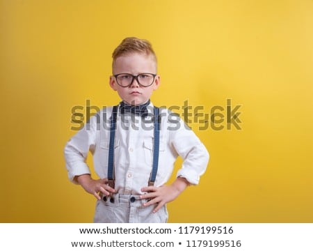serious little boy stock photo © rcarner
