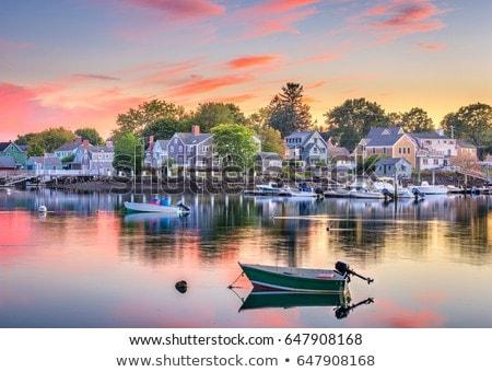 Piccolo porto view tramonto porto isola Foto d'archivio © olandsfokus