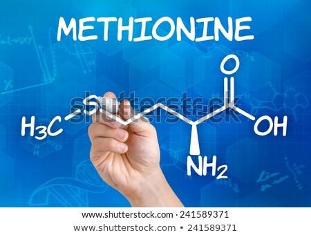 Mão caneta desenho químico fórmula médico Foto stock © Zerbor