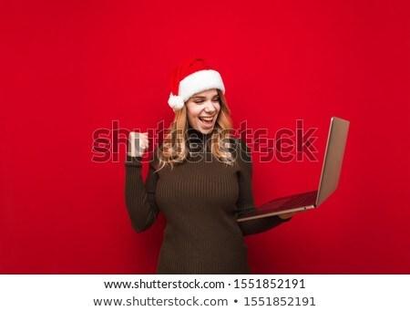 young santa girl posing stock photo © hsfelix