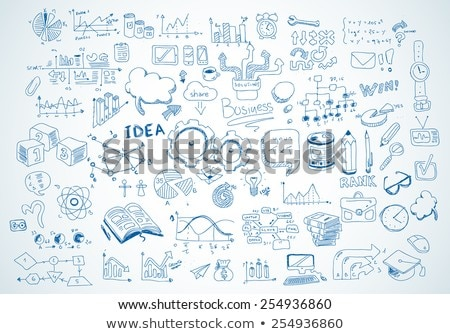 bulb with drawing business success strategy plan idea Stock photo © netkov1