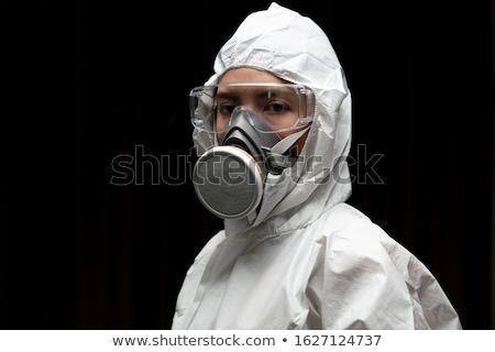 Mulher químico terno tóxico atmosfera Foto stock © RAStudio