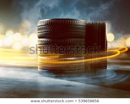 wielen · haast · weg · vier · auto - stockfoto © ssuaphoto