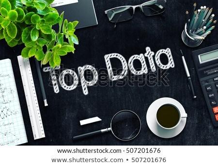 tableau · sombre · illustration · affaires · ordinateur - photo stock © tashatuvango