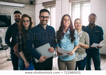Business team smiling Stock photo © IS2