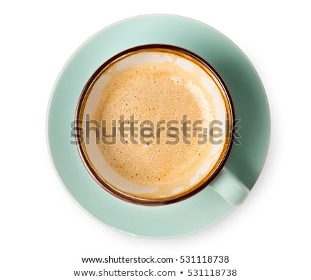 top view of coffee cup stock photo © homydesign