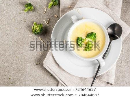 peynir · çorba · mantar · taze · arka · plan - stok fotoğraf © tycoon