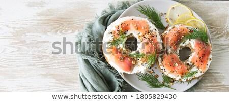 salmon with lemon and dill Stock photo © M-studio