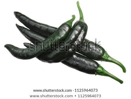Pasilla chilaca dried peppers, top, paths Stock photo © maxsol7