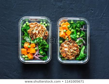 アジア · 弁当箱 · スタイル · 食べる · フル · 材料 - ストックフォト © tycoon