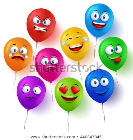 ballonnen · illustratie · verschillend · kleuren · liefde · cartoon - stockfoto © colematt