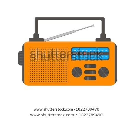 Hordozható rádió vektor ikon mobil háló Stock fotó © smoki
