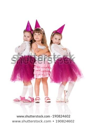 Groupe trois adorable enfants fête d'anniversaire Photo stock © Lopolo