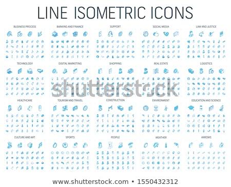 Stockfoto: Web · design · schets · isometrische · iconen · logo-ontwerp · vector