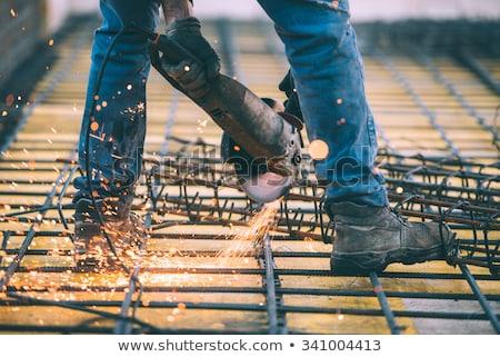 建設作業員 グラインダー 建設現場 手 作業 ワーカー ストックフォト © feverpitch