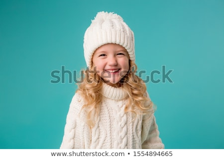 Herbst Porträt cute blond Kind Mädchen Stock foto © Lopolo