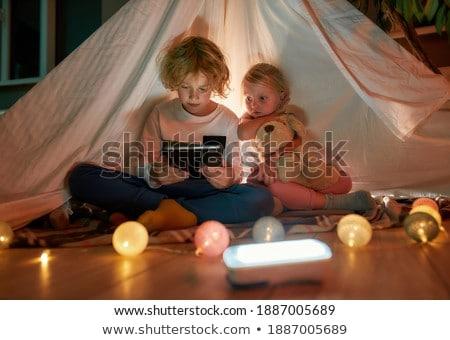 Bonitinho menino sorridente isolado branco Foto stock © alexandrenunes