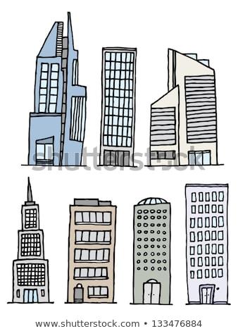 Illustration of a handwritten Urban skyscraper set Stock photo © Blue_daemon